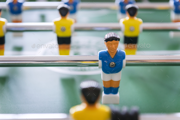 Foosball Table Soccer Game Recreation Leisure - Stock Photo - Images