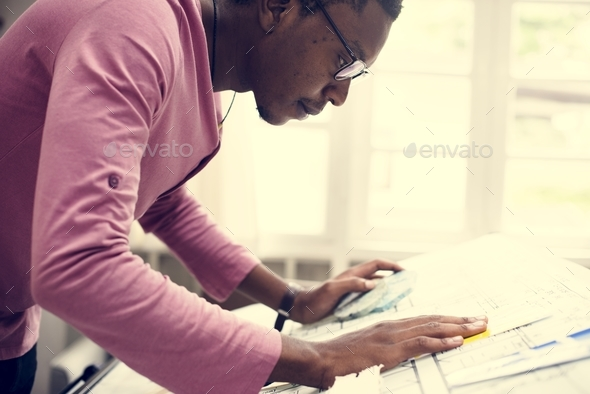 Designer working in the office - Stock Photo - Images