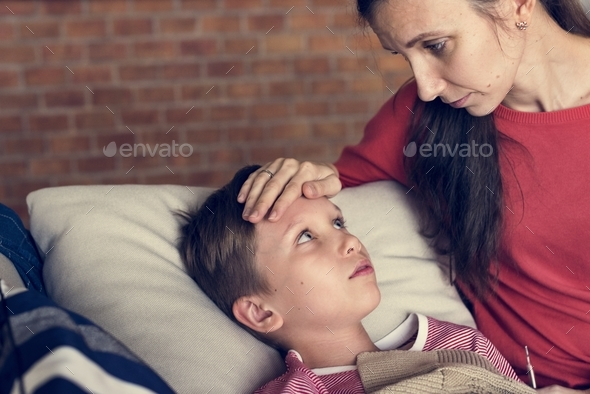 A sickness young boy - Stock Photo - Images