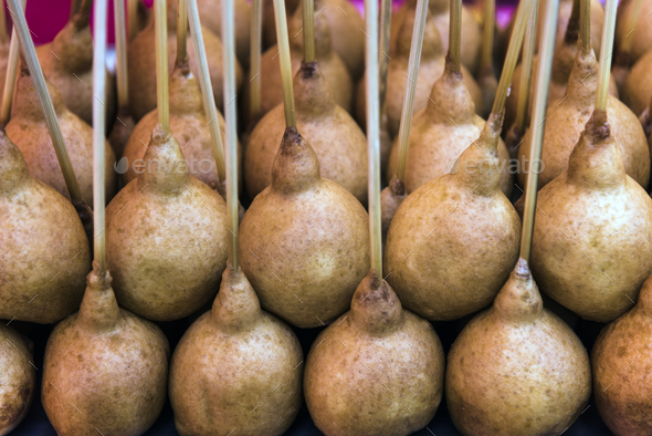 Fried dough on a stick - Stock Photo - Images
