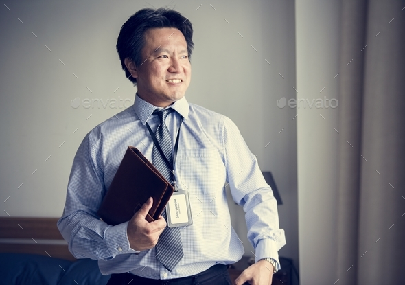 A businessman ready to go to work - Stock Photo - Images
