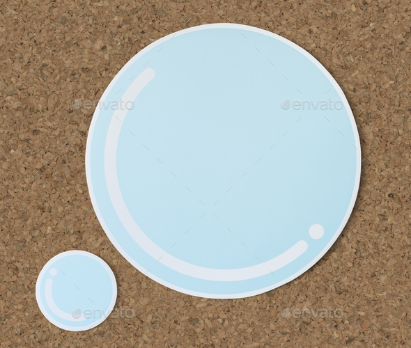 Bubble water cut out paper icon - Stock Photo - Images