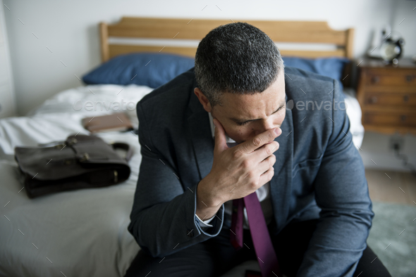 A man crying - Stock Photo - Images