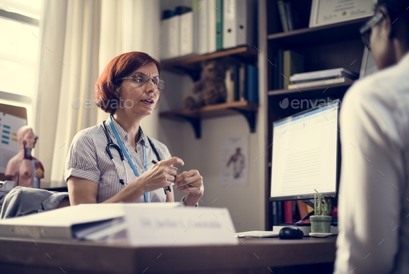 Patient is meeting a doctor - Stock Photo - Images