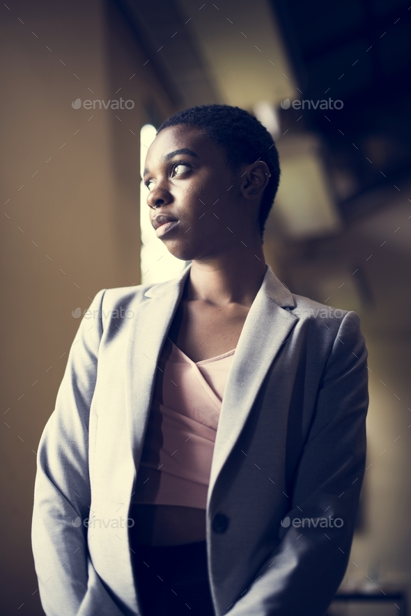 Candid of african descent woman - Stock Photo - Images