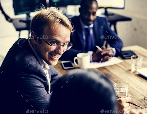 Group of business people in the meeting room - Stock Photo - Images
