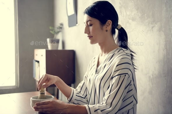 Japanese woman - Stock Photo - Images