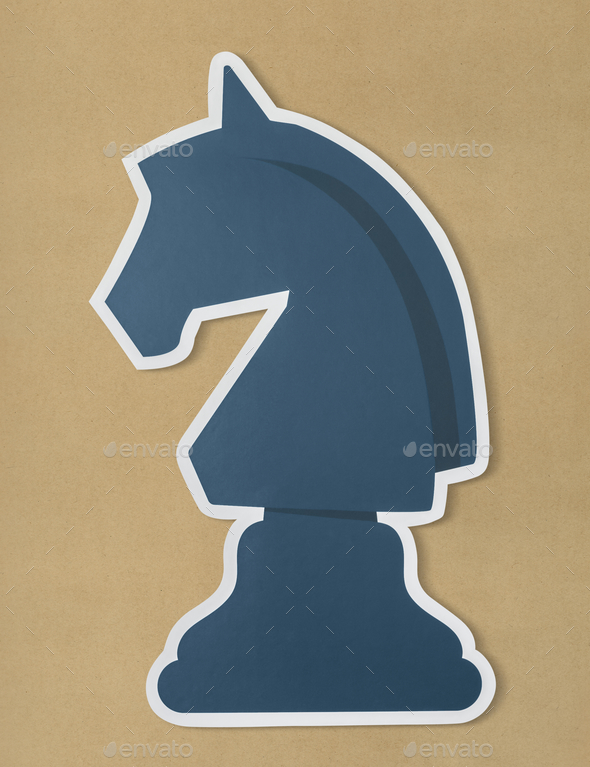 The knight chess strategy icon - Stock Photo - Images