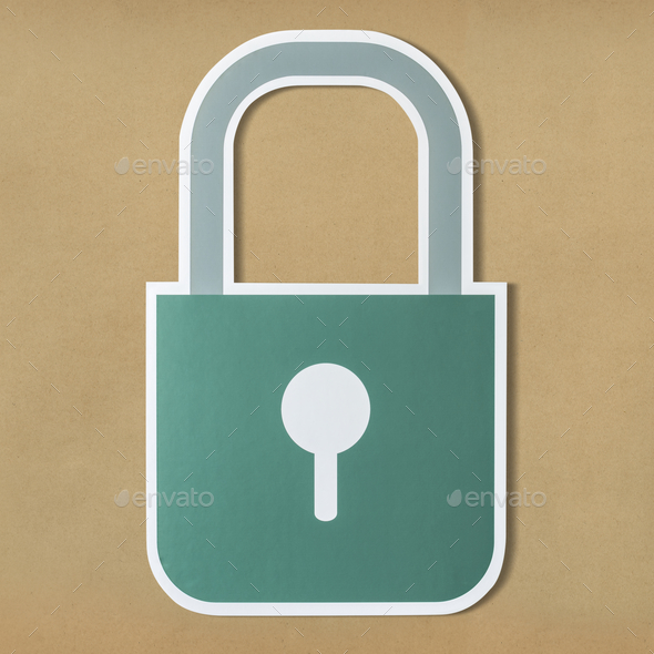 Privacy safety lock icon symbol - Stock Photo - Images