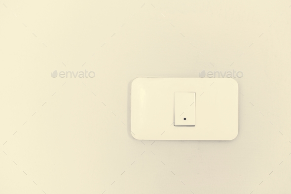 Switch supply on white background - Stock Photo - Images
