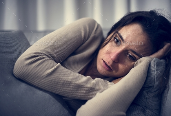 Depressed woman - Stock Photo - Images
