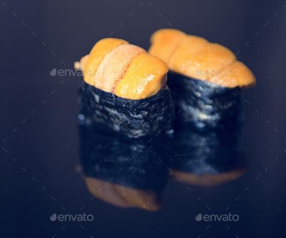 Uni sushi japanese food healthy - Stock Photo - Images