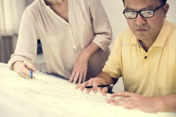 Business people working together - Stock Photo - Images