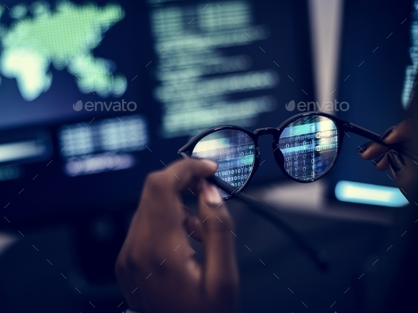 Computer coding shoot - Stock Photo - Images