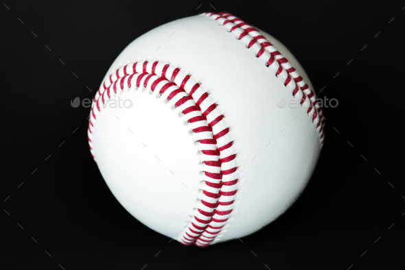 Closeup of baseball - Stock Photo - Images