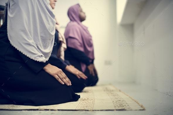Muslim people praying - Stock Photo - Images