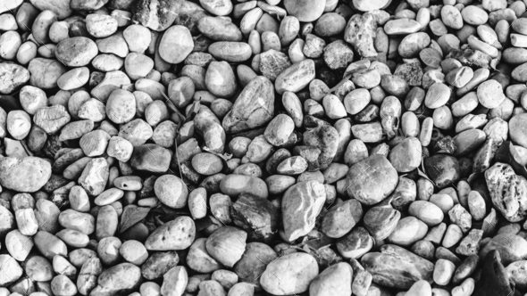 Stones and pebbles negative color - Stock Photo - Images