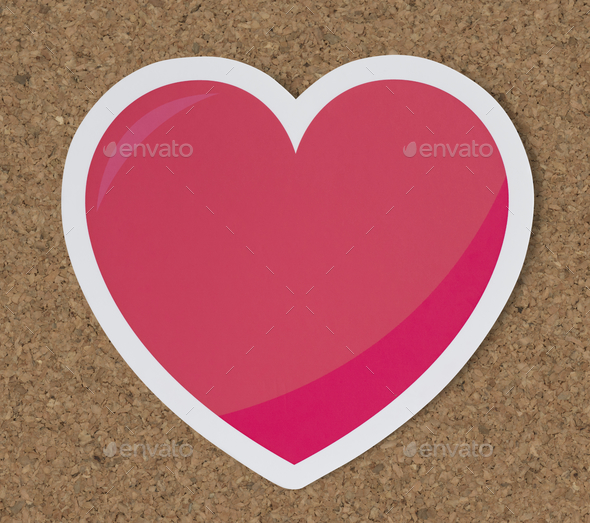 Heart like love romance icon - Stock Photo - Images