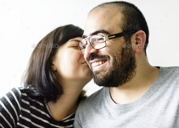 Happy sweet couple in love - Stock Photo - Images