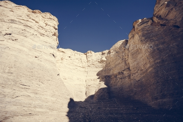 The Beautiful View of Monument Rocks - Stock Photo - Images