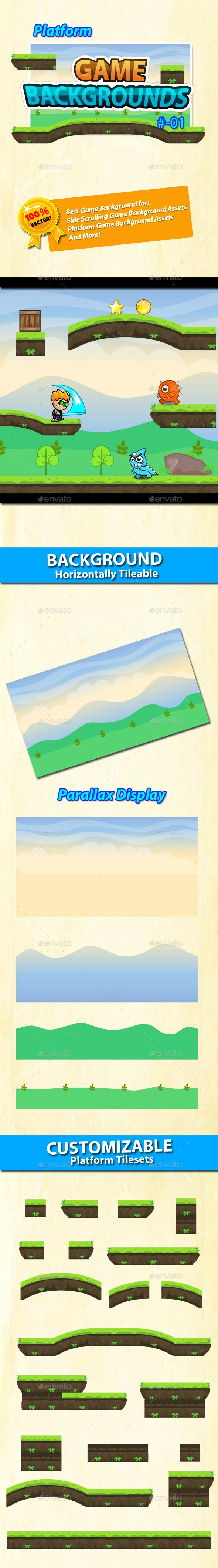 Game Background - Platform Tilesets -  01 - Backgrounds Game Assets