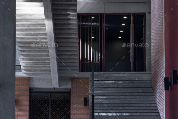 Stairs outside a modern building - Stock Photo - Images
