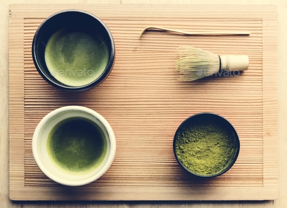Japanese oriental matcha ceremony tradition - Stock Photo - Images