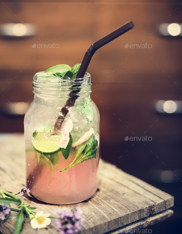 Closuep of infused water - Stock Photo - Images