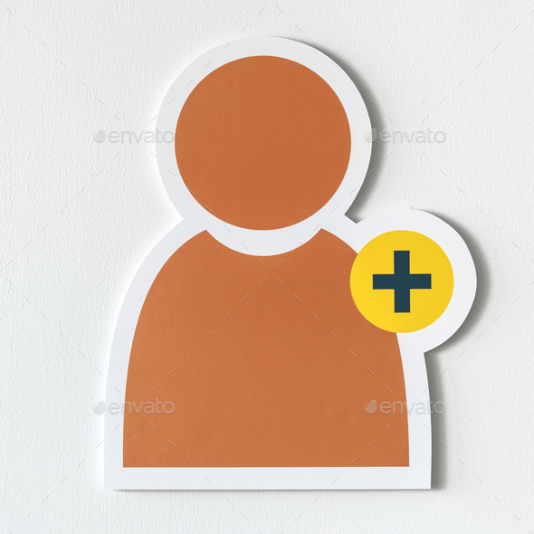 Add friend social media icon - Stock Photo - Images