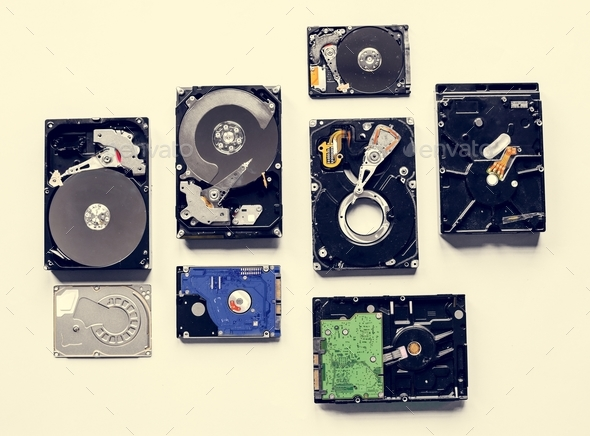 HDD portable data storage isolated on background - Stock Photo - Images