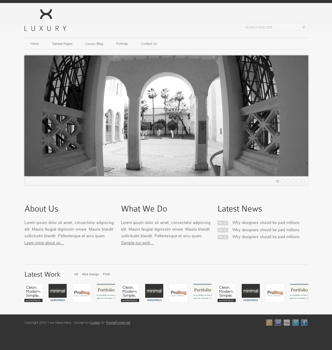 Luxury HTML Template by Cudazi by cudazi | ThemeForest