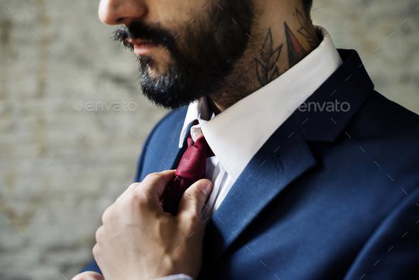 Closeup of a business man - Stock Photo - Images
