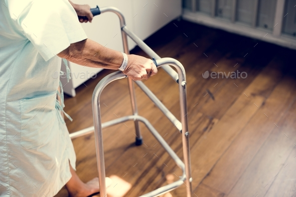 Old patient in process of recovering - Stock Photo - Images