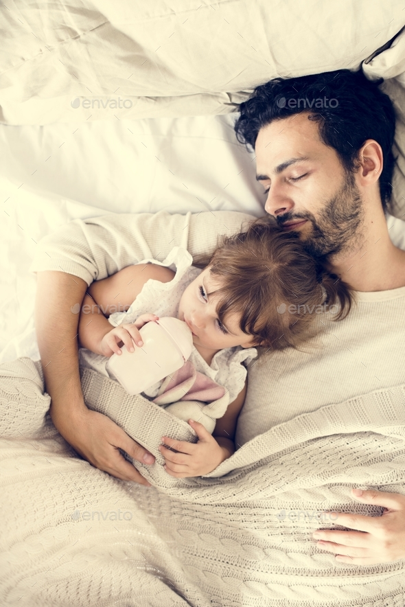 Father and daughter quality time - Stock Photo - Images