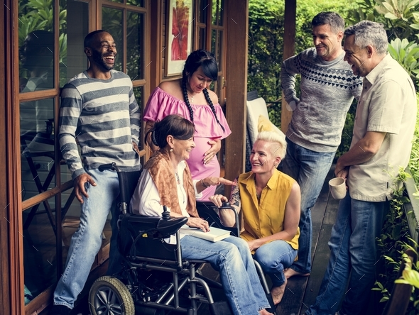Group of diverse friends together - Stock Photo - Images