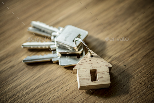 Flat lay of real estate concept - Stock Photo - Images
