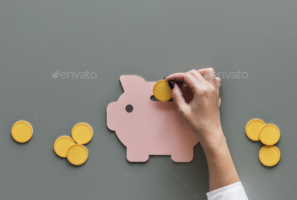 Piggy bank future money savings investment - Stock Photo - Images