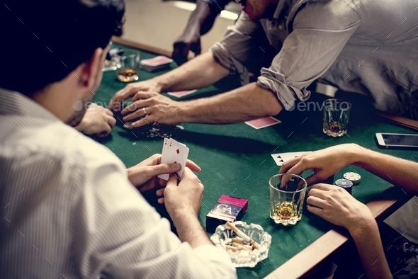 Diverse Adults gambling shoot - Stock Photo - Images
