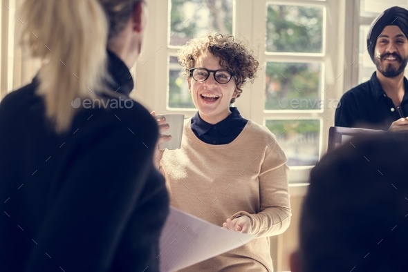 Business people in a meeting - Stock Photo - Images