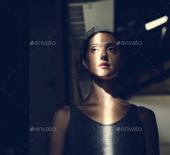 Candid of caucasian woman - Stock Photo - Images
