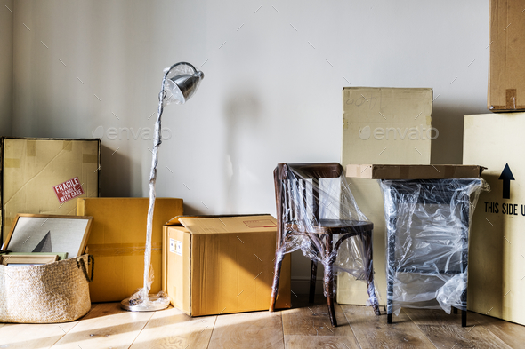 Packed furniture - Stock Photo - Images