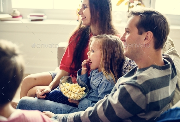 Family spending time together - Stock Photo - Images