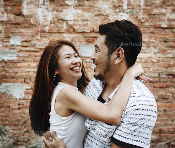 Lovely couple having a good time together - Stock Photo - Images