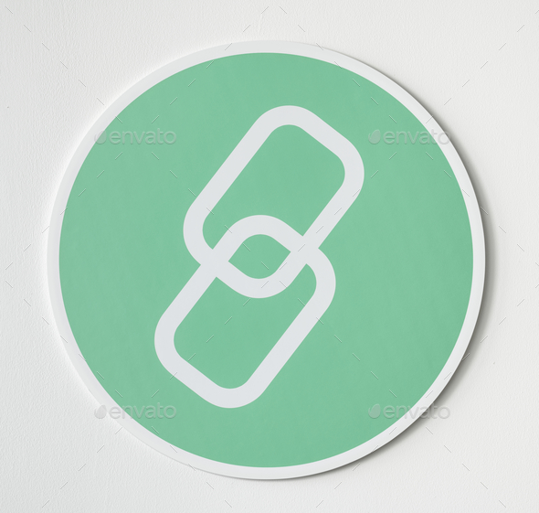Green icon of network linking - Stock Photo - Images