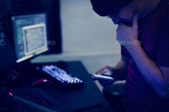 Computer hacker shoot - Stock Photo - Images