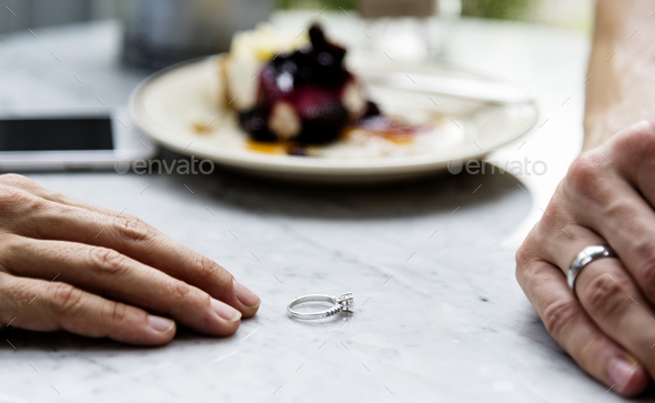 Couple breaking up the relationship - Stock Photo - Images