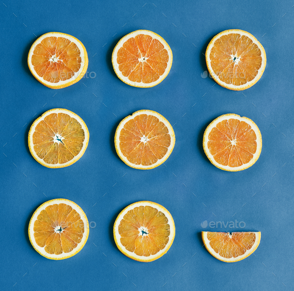 Aerial view of colorful citrus slices - Stock Photo - Images