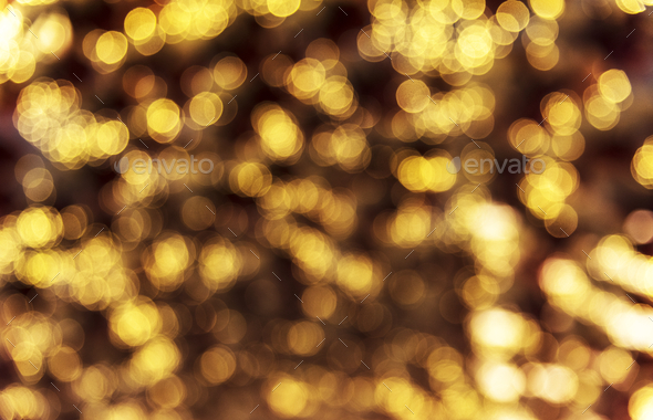Blurred bokeh style lights in the evening - Stock Photo - Images