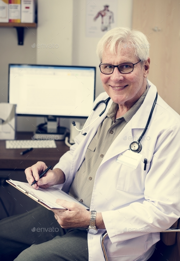 Doctor is working at the hospital - Stock Photo - Images