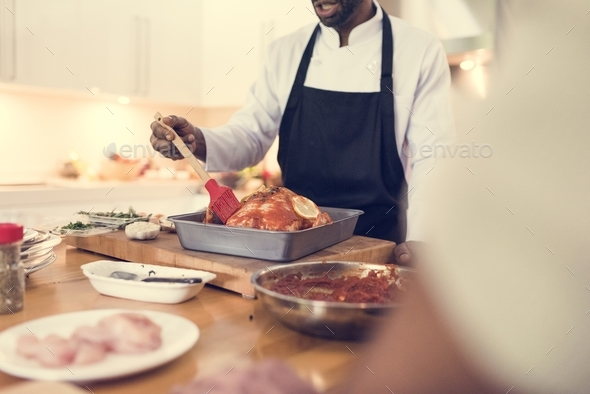 People is cooking in the kitchen - Stock Photo - Images
